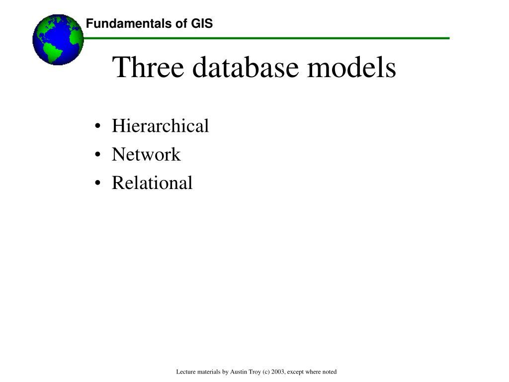 Three database models