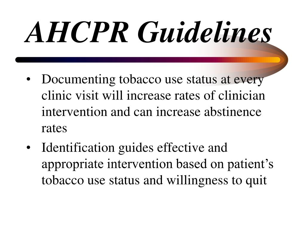 AHCPR Guidelines