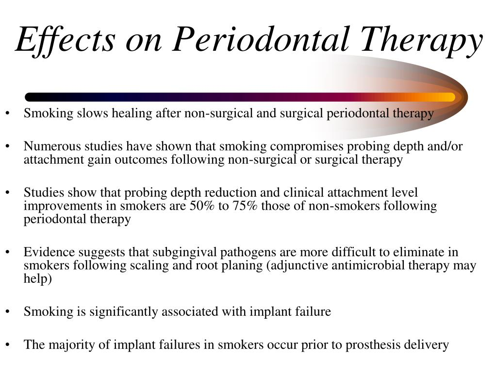 Effects on Periodontal Therapy