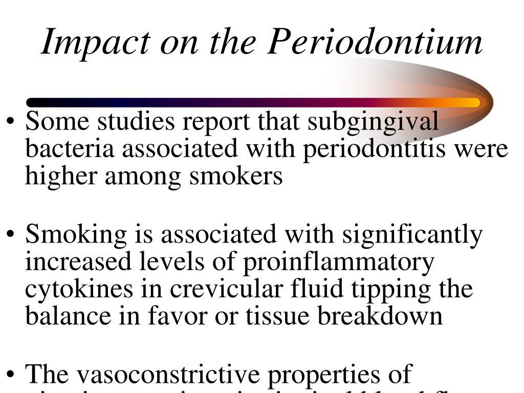 Impact on the Periodontium