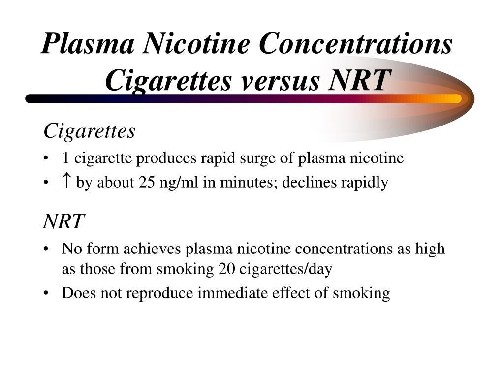 Plasma Nicotine Concentrations