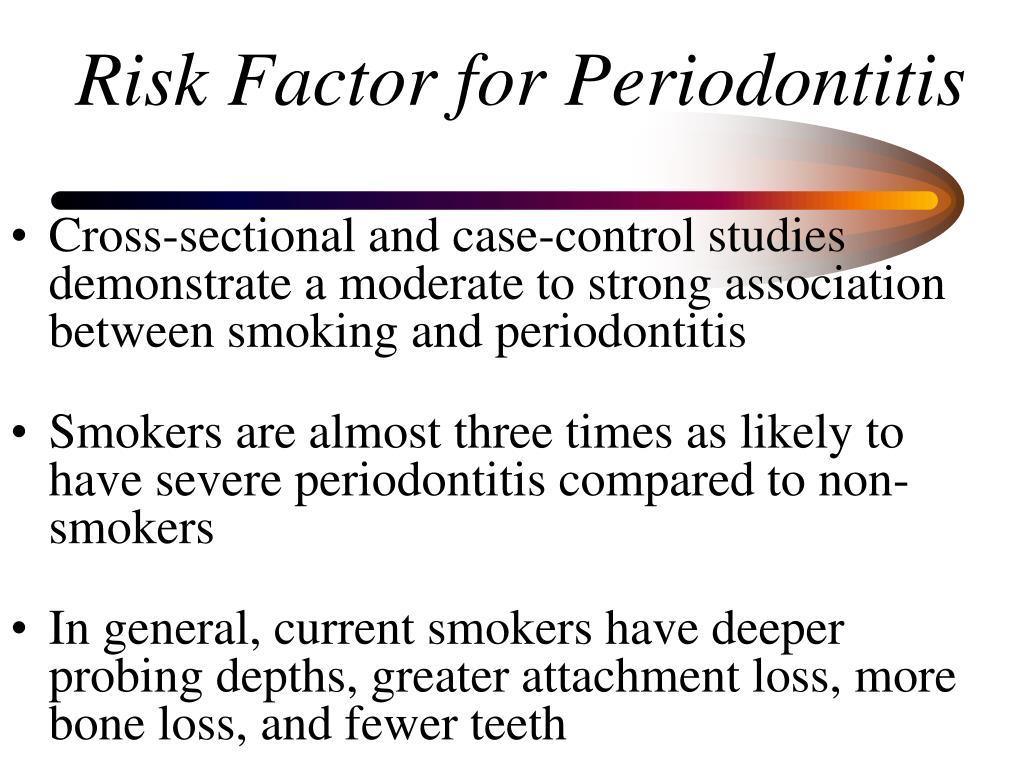 Risk Factor for Periodontitis