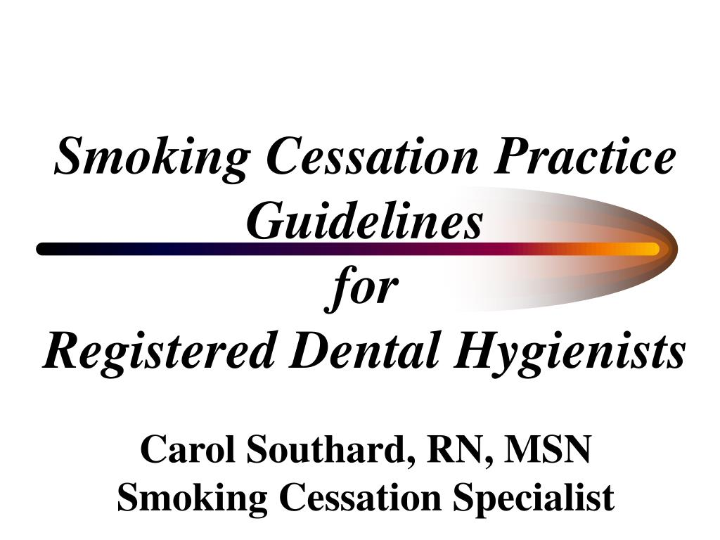 Smoking Cessation Practice Guidelines