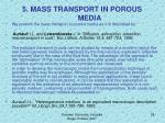 5 mass transport in porous media