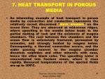 7 heat transport in porous media