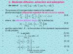 i moderate diffusion advection and adsorption