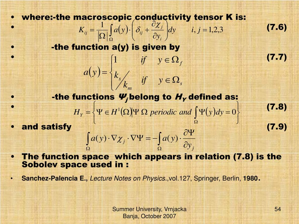 where:-the macroscopic conductivity tensor K is: