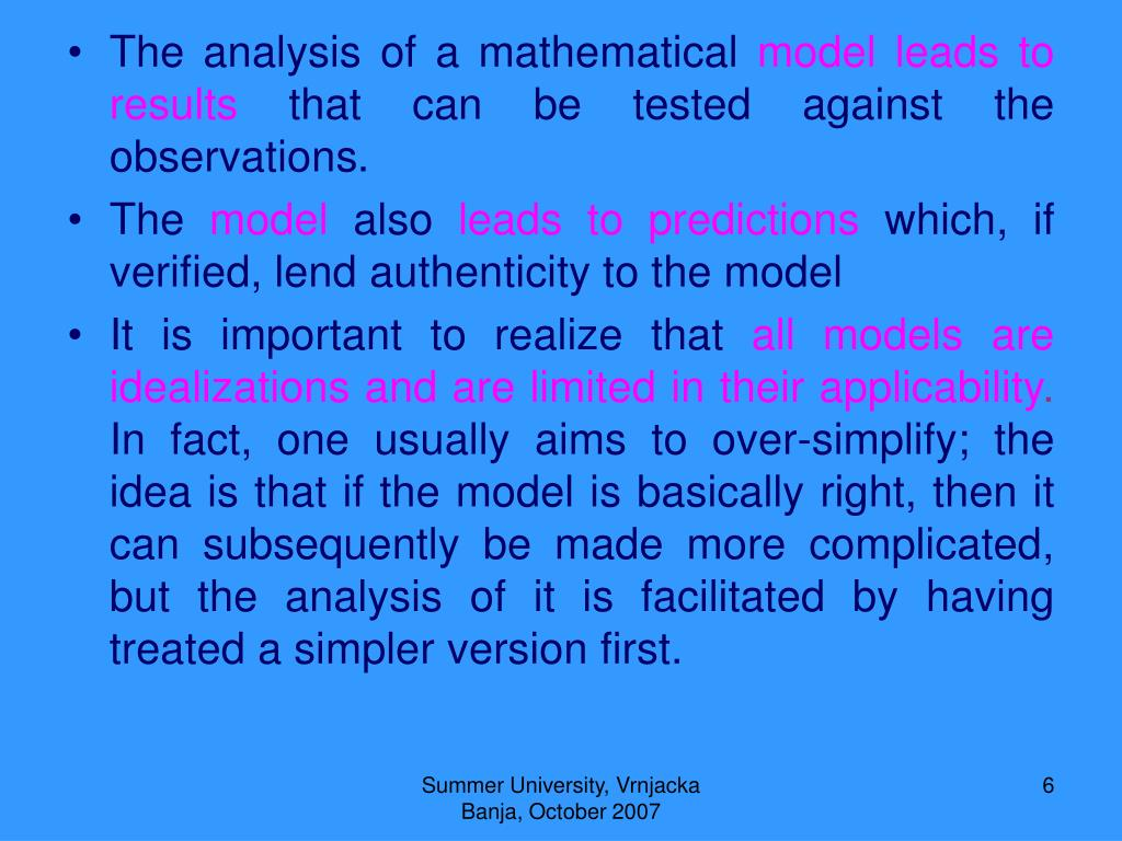 The analysis of a mathematical
