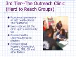 3rd tier the outreach clinic hard to reach groups