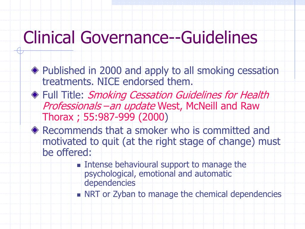 Clinical Governance--Guidelines