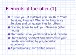 elements of the offer 1