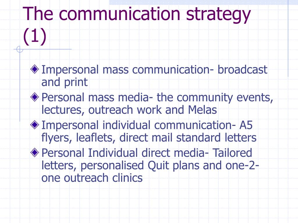 The communication strategy (1)