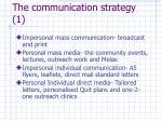 the communication strategy 1