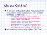 why use quitlines
