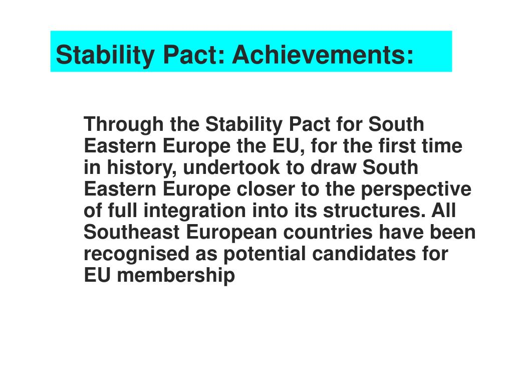 Stability Pact: