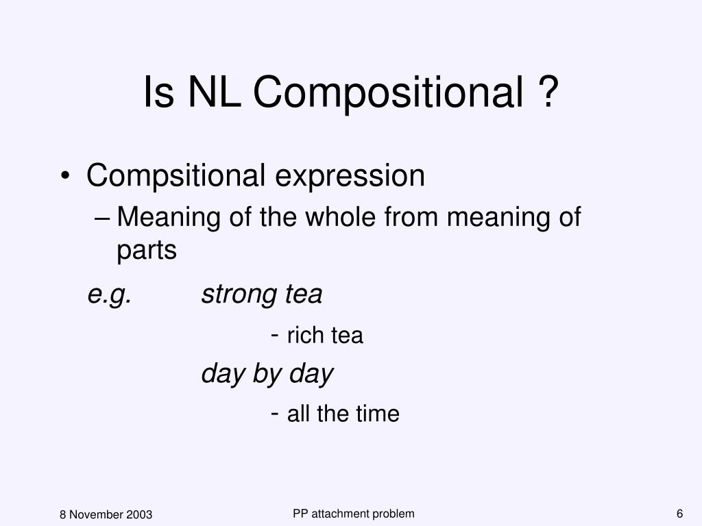 Is NL Compositional ?