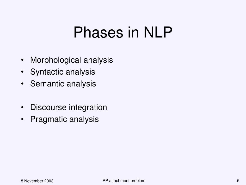 Phases in NLP