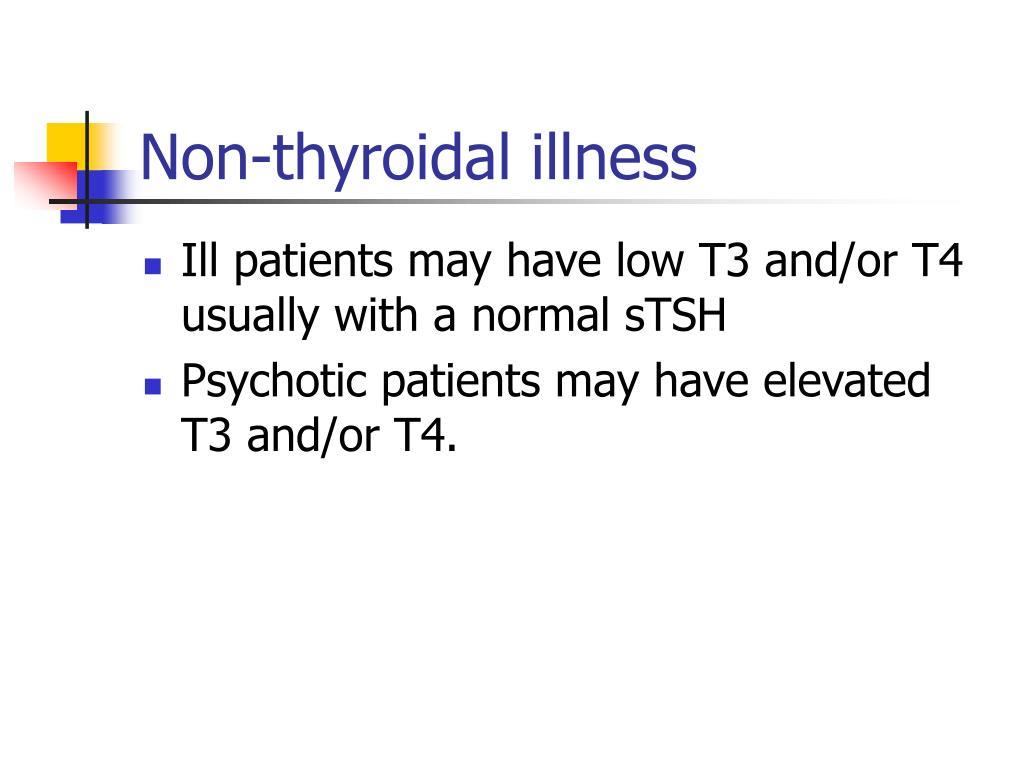 Non-thyroidal illness