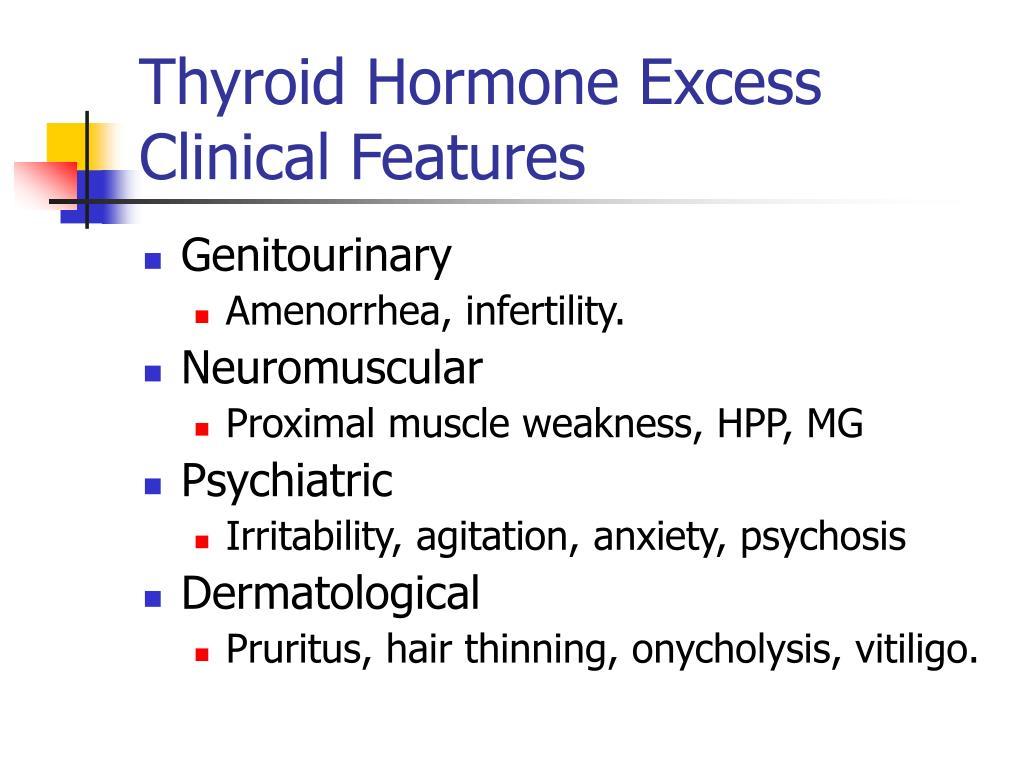 Thyroid Hormone Excess