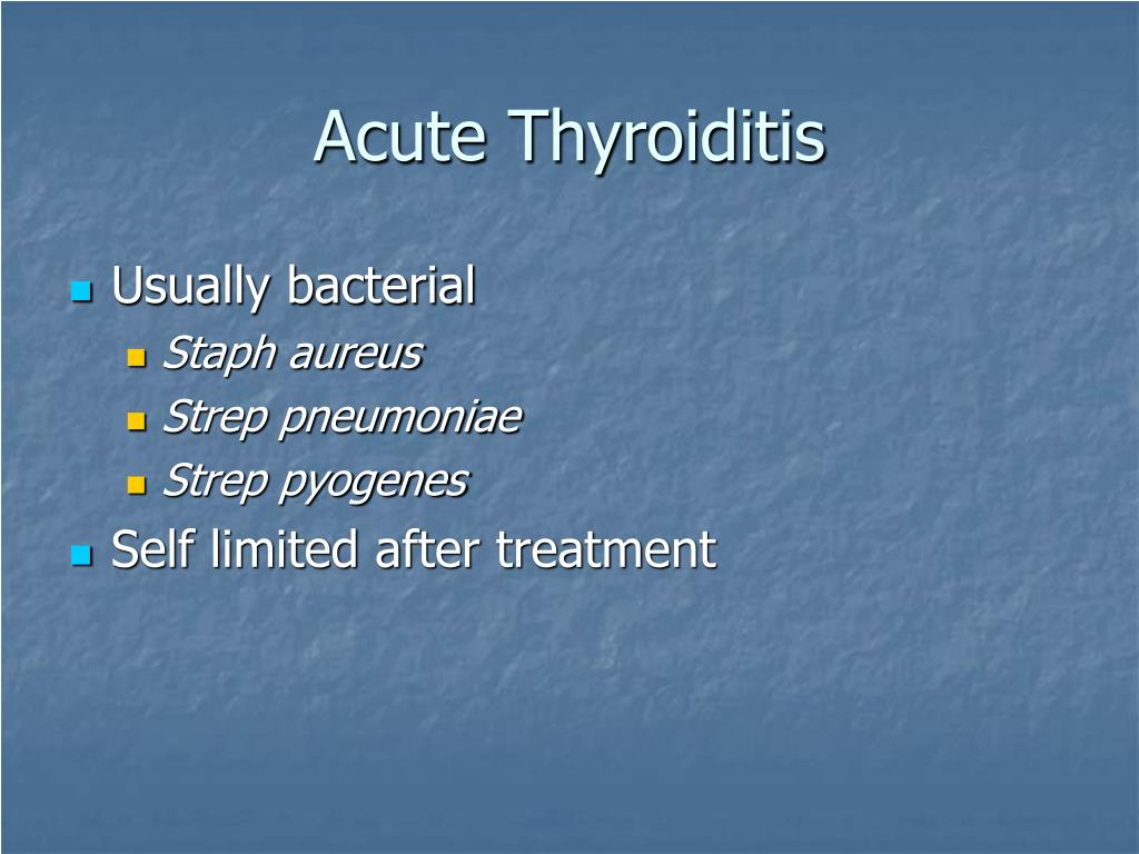 Acute Thyroiditis