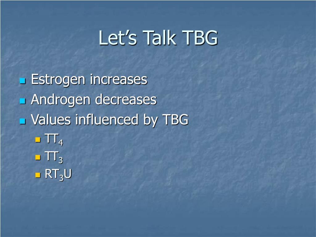 Let's Talk TBG
