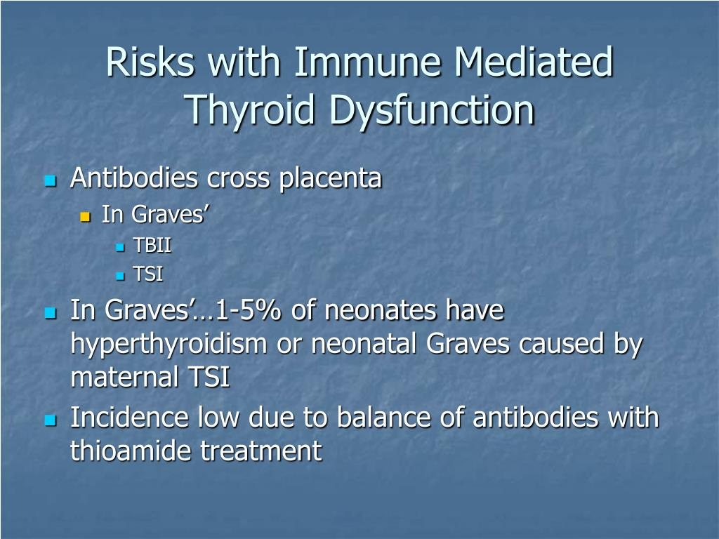 Risks with Immune Mediated Thyroid Dysfunction