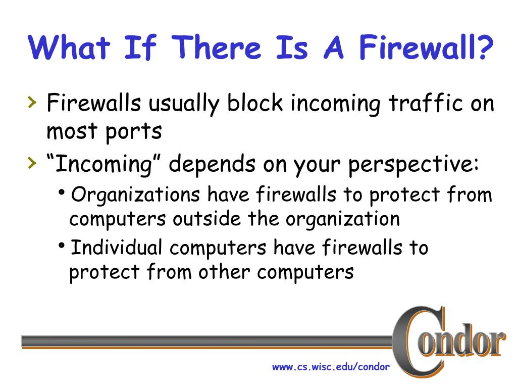 What If There Is A Firewall?