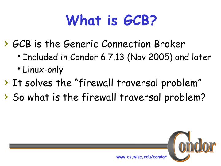 What is gcb