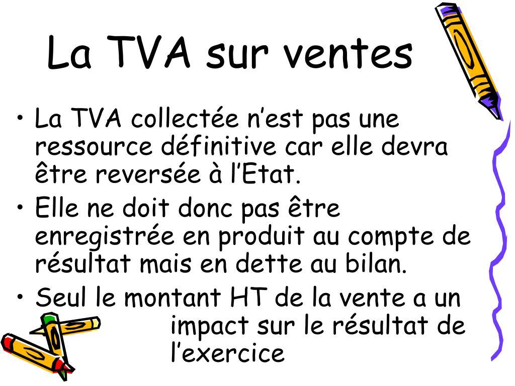 La TVA sur ventes