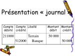 pr sentation journal