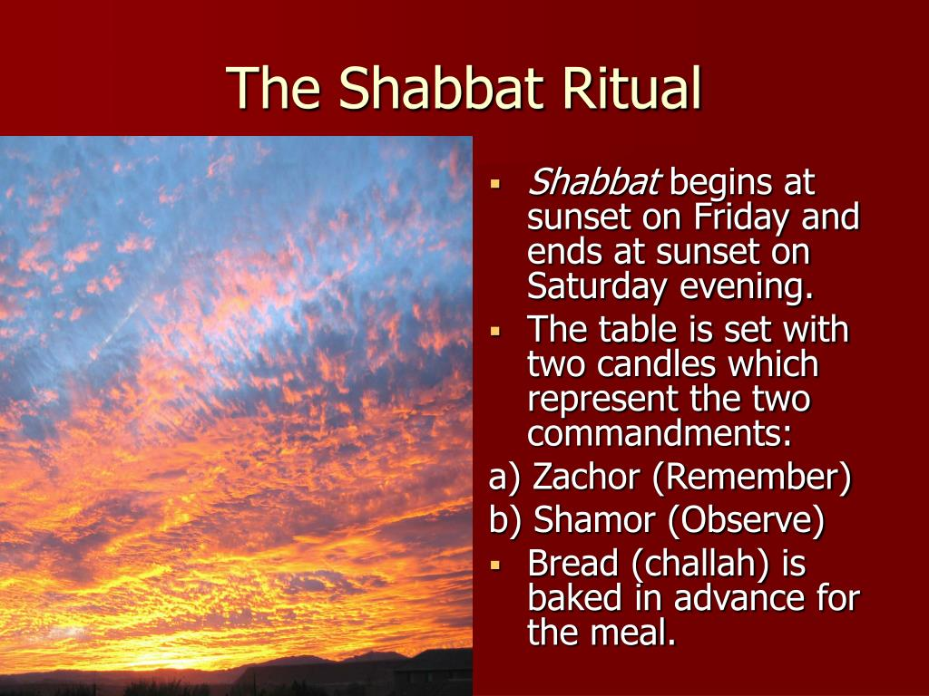The Shabbat Ritual