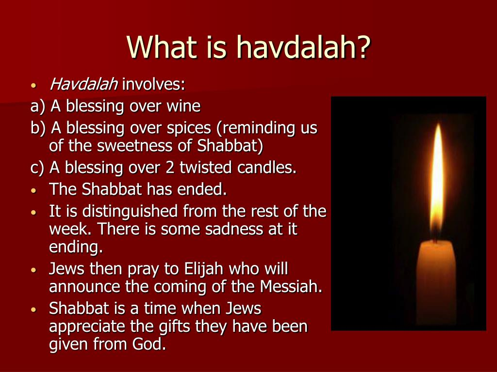What is havdalah?