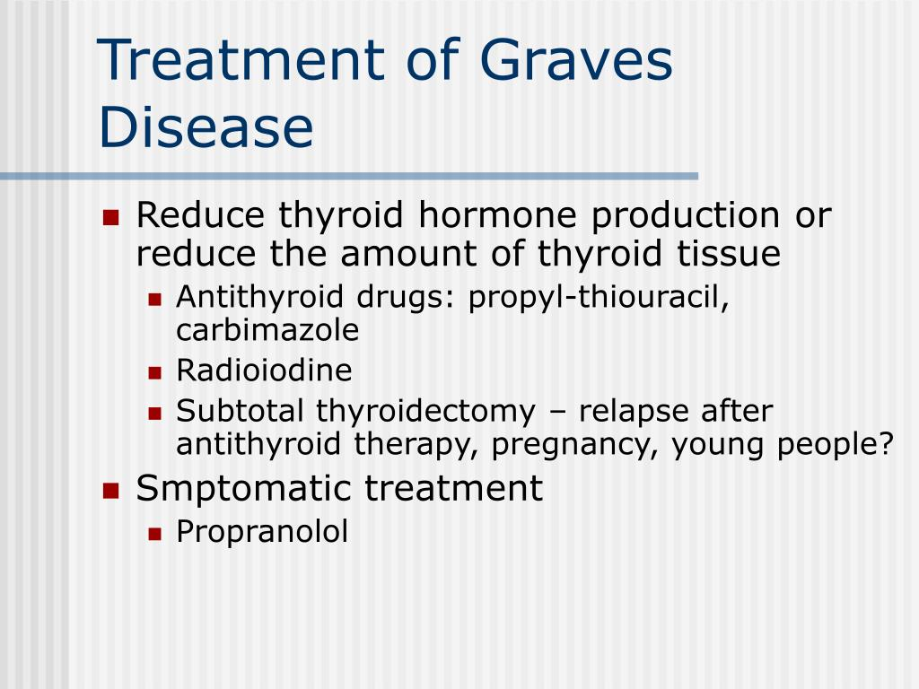 Treatment of Graves Disease
