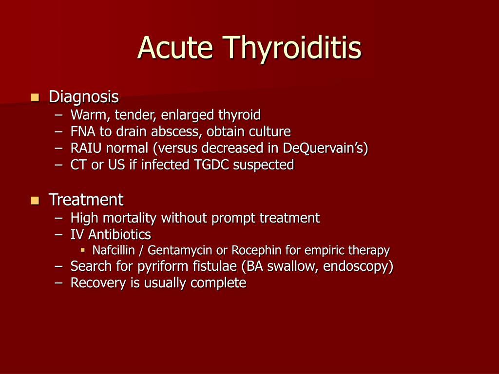 Acute Thyroiditis
