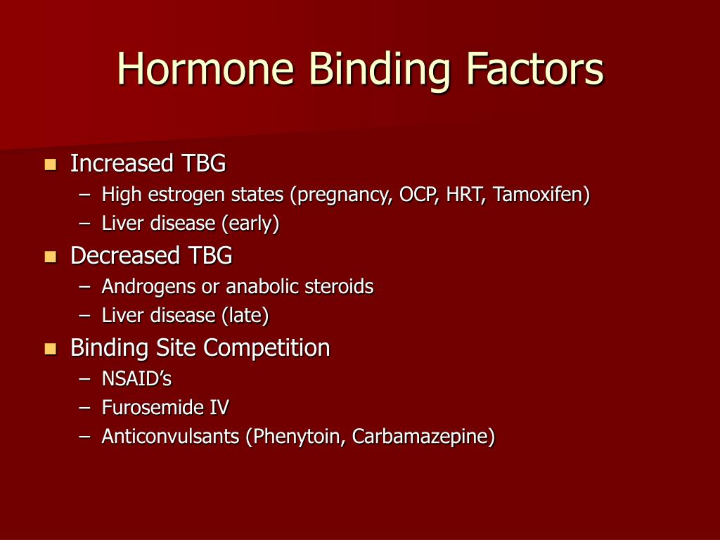 Hormone Binding Factors