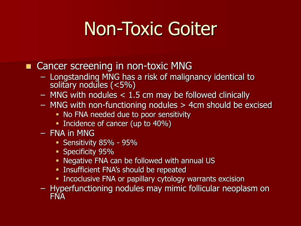 Non-Toxic Goiter