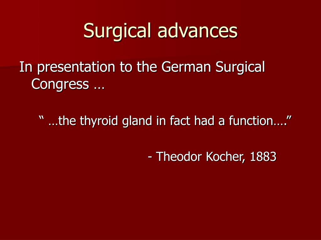 Surgical advances