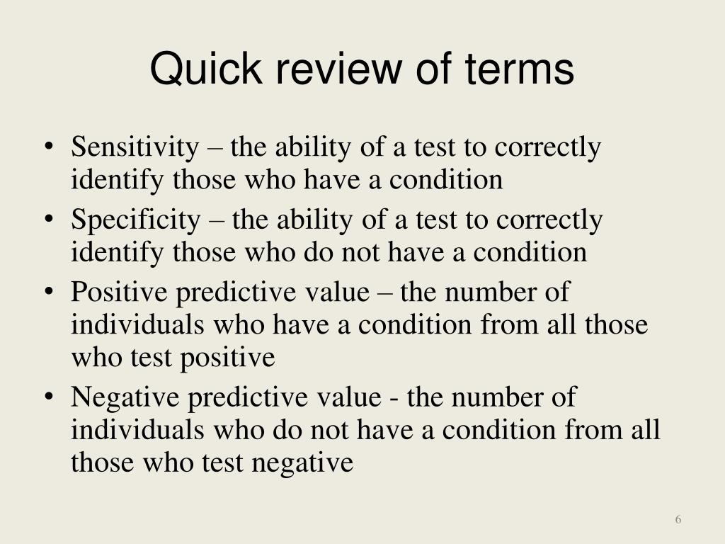 Quick review of terms