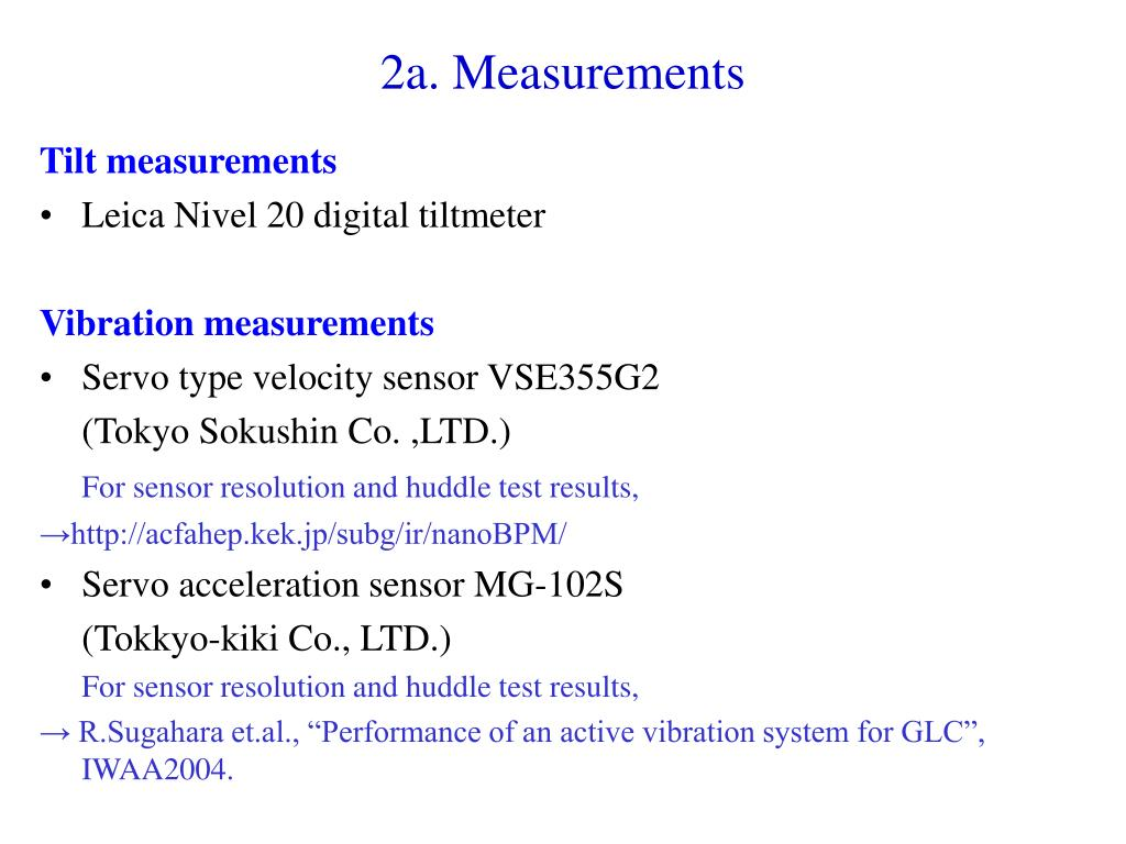 2a. Measurements