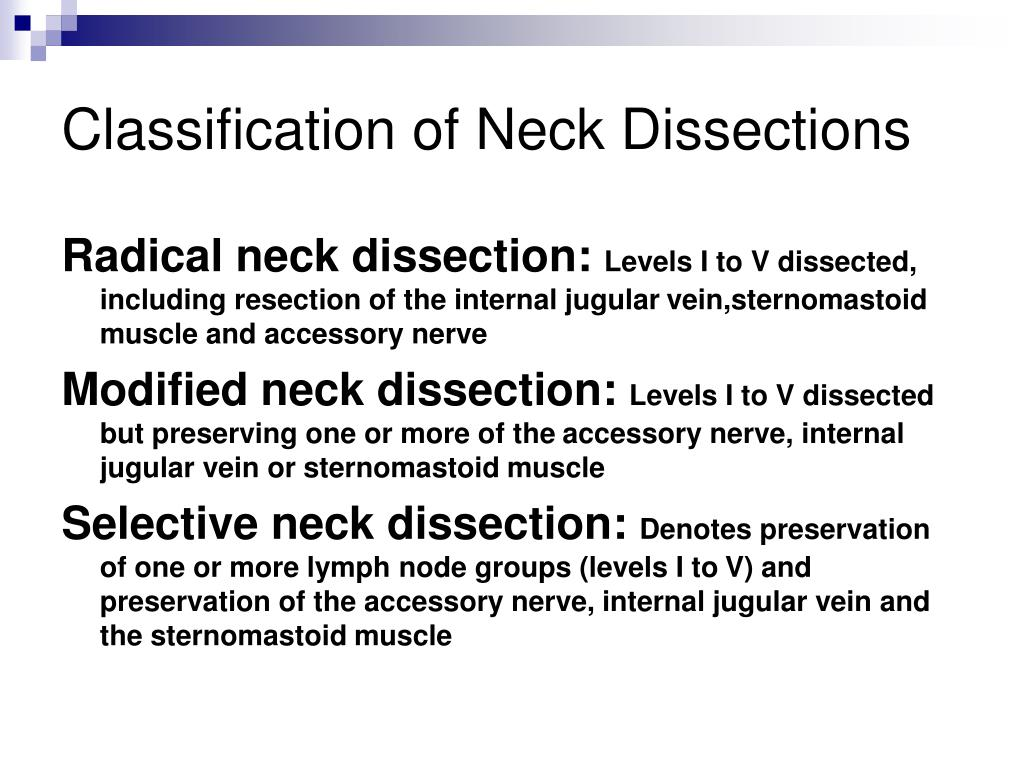 Classification of Neck Dissections