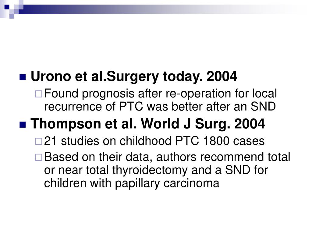 Urono et al.Surgery today. 2004