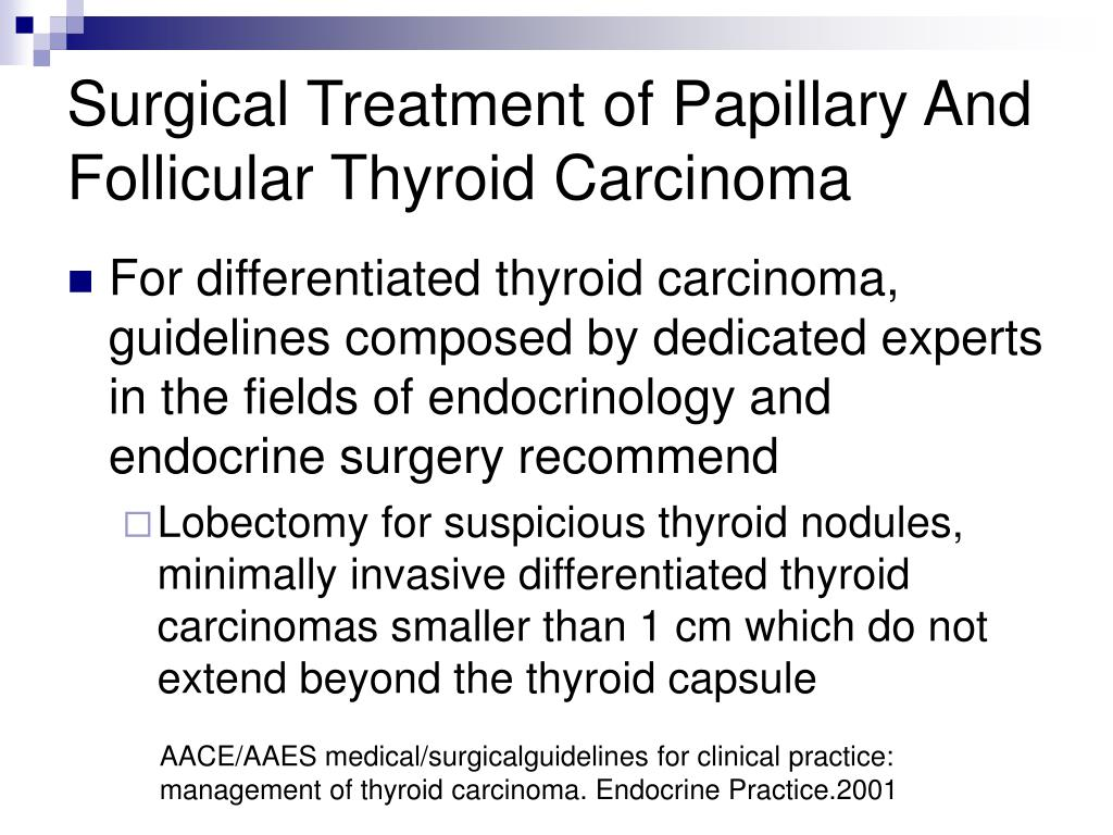 Surgical Treatment of Papillary And Follicular Thyroid Carcinoma