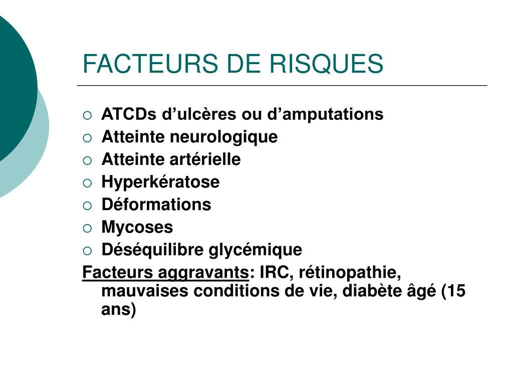 FACTEURS DE RISQUES