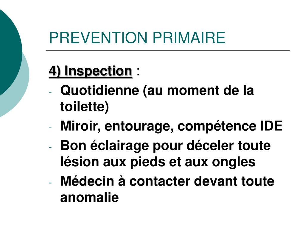 PREVENTION PRIMAIRE