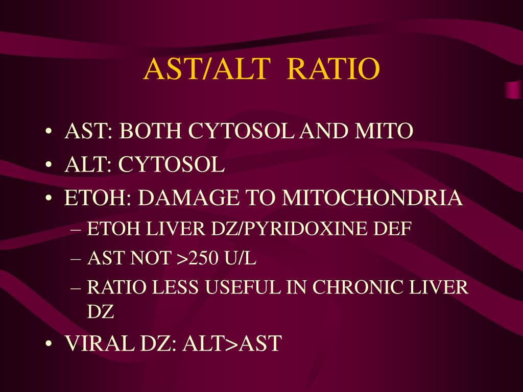 AST/ALT  RATIO