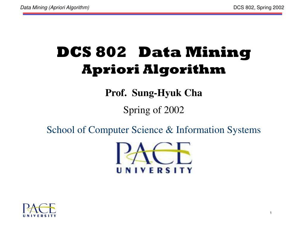 DCS 802   Data Mining