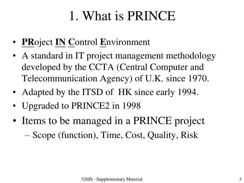 1. What is PRINCE