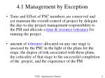 4 1 management by exception