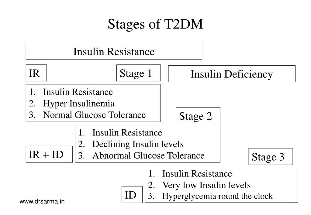 Stages of T2DM