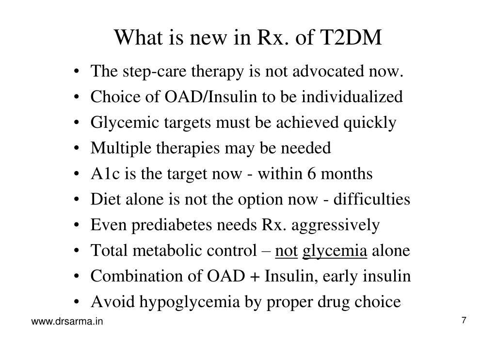 What is new in Rx. of T2DM